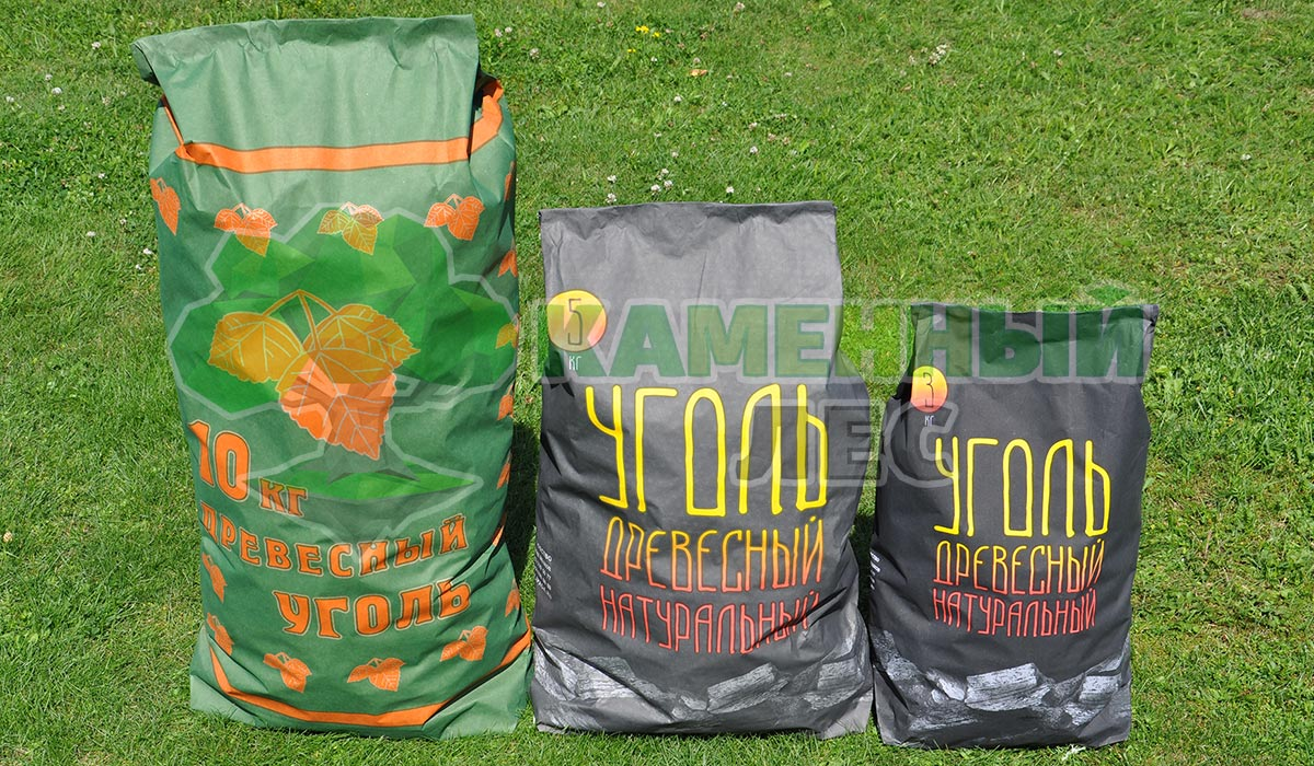 3, 5 и 10 кг древесного угля из березы