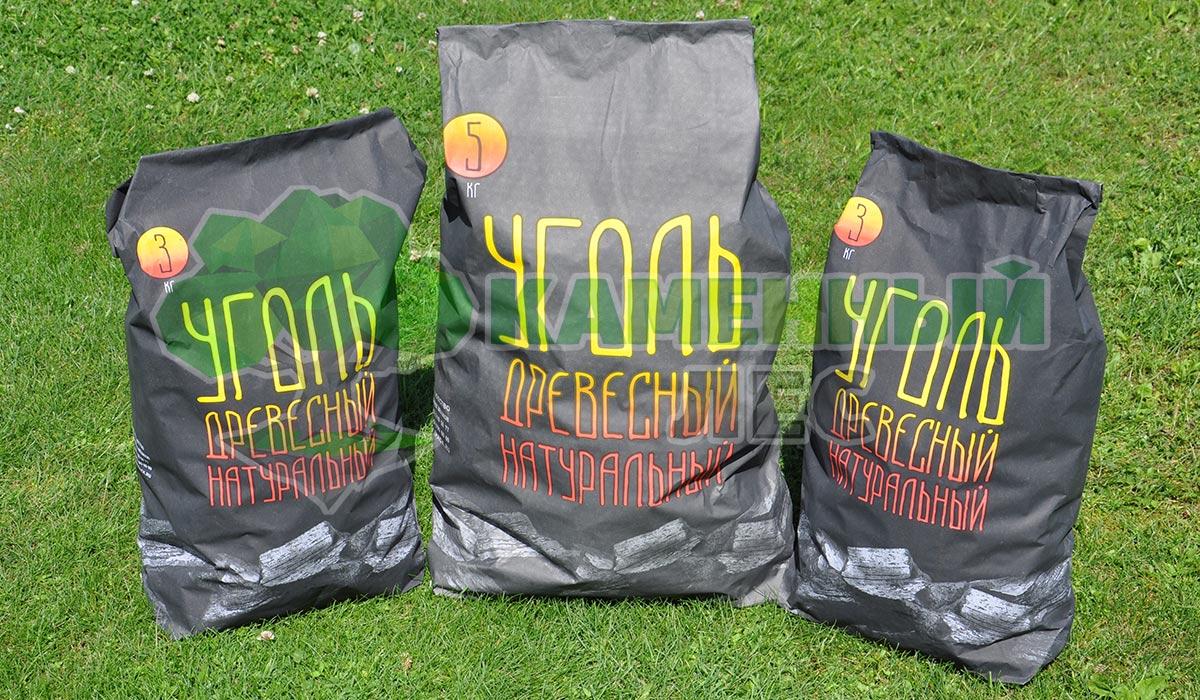 березовый уголь 3 и 5 кг от производителя